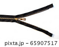 single metal opened zipper closeup 65907517