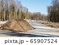 construction of a new modern road 65907524