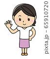 女の子01_01(笑顔・指5本・パー・掌・全身・女性) 65910720