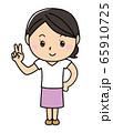 女の子01_01(笑顔・指2本・ピース・Vサイン・全身・女性) 65910725