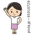 女の子01_01(笑顔・グー・頑張ろう・全身・女性) 65910729