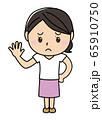 女の子01_01(困り顔・パー・指5本・全身・女性) 65910750