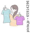 身支度 衣替え 用意 衣類 女性 イラスト 65914296