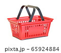 Red shopping basket 3D 65924884