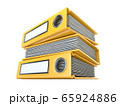 Yellow file folders 3D 65924886