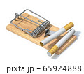 Cigarettes in wooden mousetrap 3D 65924888