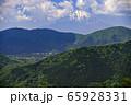 明星ヶ岳から富士山【箱根】残雪の山 65928331