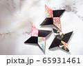 忍者の手裏剣、折り紙、日本 65931461
