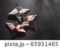忍者の手裏剣、折り紙、日本 65931465