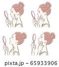 スキンケアをしている女性のイラスト 65933906