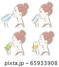 女性の横顔, 冷たい飲み物 65933908