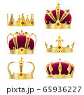 Realistic golden crown for king or queen 65936227