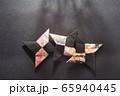 忍者の手裏剣、折り紙、日本 65940445