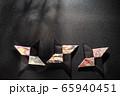 忍者の手裏剣、折り紙、日本 65940451