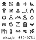 Fitness Icon Set 65949731