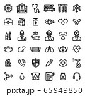 Corona & virus icon set 65949850