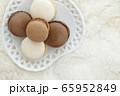コーヒーマカロンとチョコレートマカロン 65952849