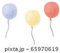 3色の手描き風風船 65970619