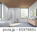 Modern contemporary loft bathroom 3d render 65976601