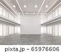 Empty loft style commercial space interior 3d render 65976606