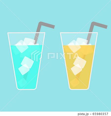 ソーダジュース&オレンジジュースのベクターイラスト 65980357