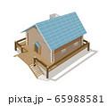 青い屋根のログハウス 65988581