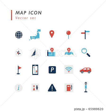 地図用アイコンセット 65989620