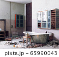 grunge style bathroom interior. 65990043