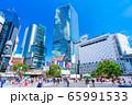 東京 渋谷 スクランブル交差点 65991533