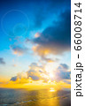 宮古島の朝日 アニメ風 66008714