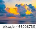 宮古島の朝日 アニメ風 66008735