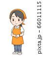 スーパー勤務の女性店員のイラスト 66011115