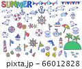 夏の海のイラスト1 66012828
