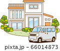 一戸建ての家と自動車 66014873