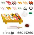 寿司 出前 イラスト 66015260