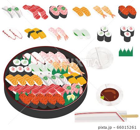 寿司 出前 イラスト 66015261