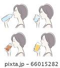 女性の横顔, 冷たい飲み物 66015282