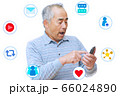 男性がスマートフォンでSNSを楽しむイメージ 66024890