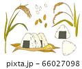 お米 稲 おにぎりの素材イラスト 66027098