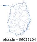 岩手県地図 シンプル白地図 市区町村 66029104