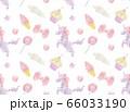 ユニコーンとスイーツの連続パターン 66033190