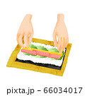 手巻き寿司のイラスト 66034017
