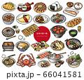 日本の食べ物手描きイラスト集 66041581