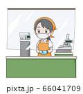 スーパー勤務の女性店員のイラスト 66041709