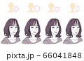 顔型別ヘアスタイル 66041848