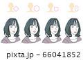 顔型別ヘアスタイル 66041852