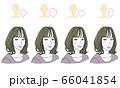 顔型別ヘアスタイル 66041854