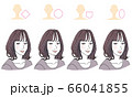 顔型別ヘアスタイル 66041855