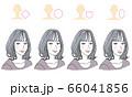 顔型別ヘアスタイル 66041856