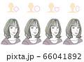 顔型別ヘアスタイル 66041892